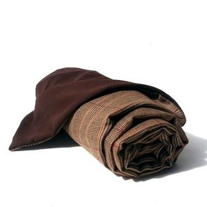 Bedding - Traditional Brown Tweed Wool Throw Blanket